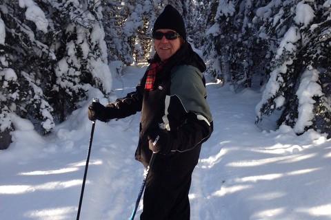 Yves Desgagnés sur la piste de ski de... (Photo fournie par Yves Desgagnés)