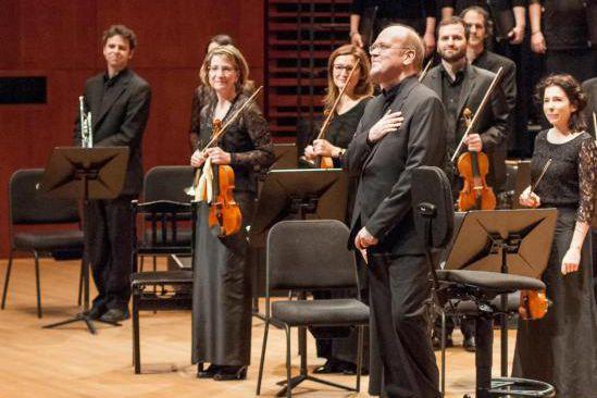 Les Violons du Roy et Bernard Labadie... (Photo Marc Giguère, fournie parLes Violons du Roy)