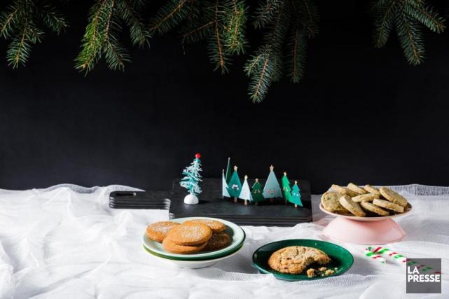 Ariane Maurice, de la pâtisserieBicyclette, a préparé trois... (PHOTO ÉDOUARD PLANTE-FRÉCHETTE, LA PRESSE)