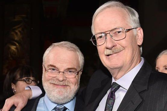 Les réalisateurs Ron Clements (à gauche) et John... (Photo Alberto E. Rodriguez, Getty Images/Disney)