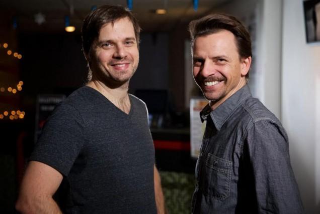 Le réalisateurAlexis Fortier Gauthier et le comédien Martin... (Photo André Pichette, La Presse)