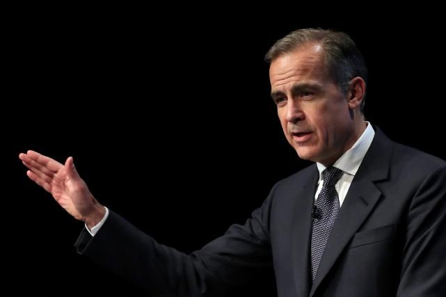 Mark Carney,gouverneur de la Banque d'Angleterre... (PHOTO Peter Byrne, AP)
