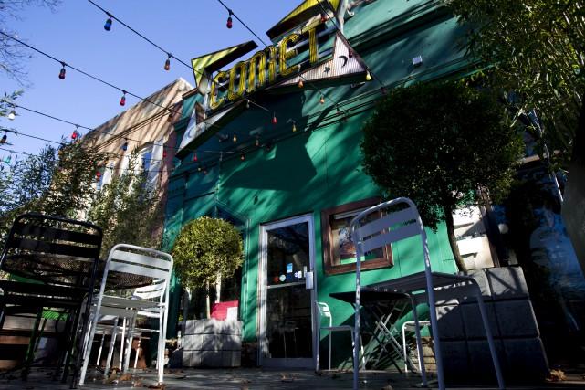 La pizzeria Comet Ping Pong à Washington a... (AP, Jose Luis Magana)