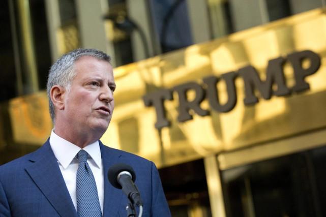 Pour le maire de New York, Bill de... (ARCHIVES AP)