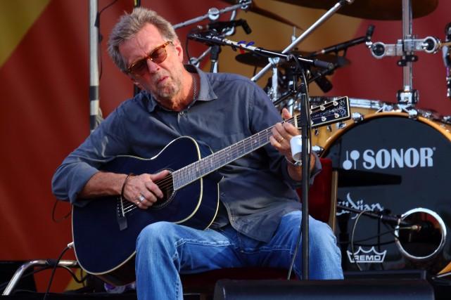 Eric Clapton en mars 2016.... (Photo AP)