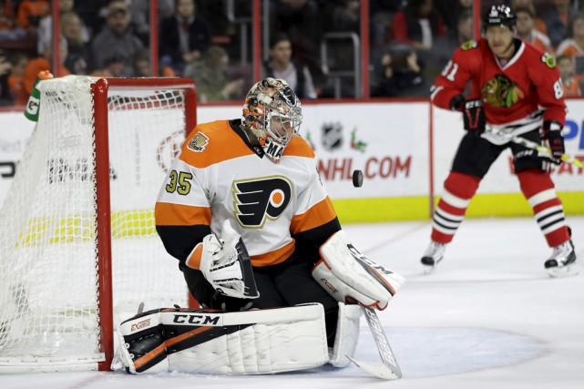 Le gardien Steve Mason est l'une des étoiles... (archives Associated Press)