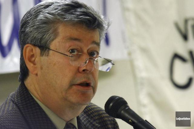 André-R. Gauthier, du Mouvement Chicoutimi-Saguenay.... (Archives Le Quotidien, Michel Tremblay)