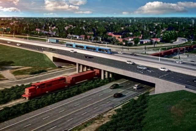 Le consortium Champlain-Brossard prévoit un nouveau quartier mixte... (IMAGE FOURNIE PAR CDPQ Infra)