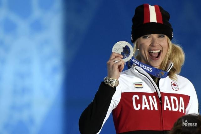 Dominique Maltais aété médaillée d'argent en snowboardcrossaux Jeux... (Photo Bernard Brault, archives La Presse)