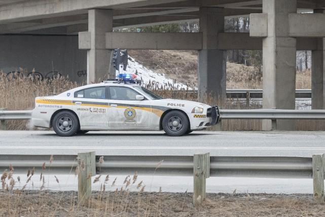 Arrêté au terme d'une poursuite policière entre la Montérégie et Sherbrooke, la... (Archives La Tribune, Frédéric Côté)