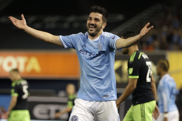 David Villa... (Photo Seth Wenig, archives AP)