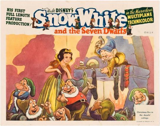 Affiche du premier film de Walt Disney, Blanche-Neige... (Photo fournie par Disney)