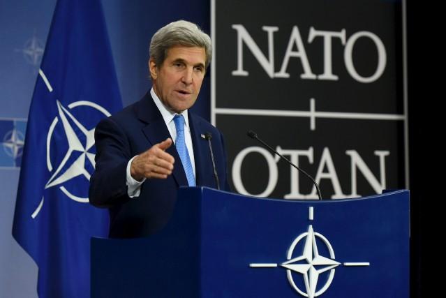 John Kerry a participé, mardi, à sa dernière... (AFP, John Thys)