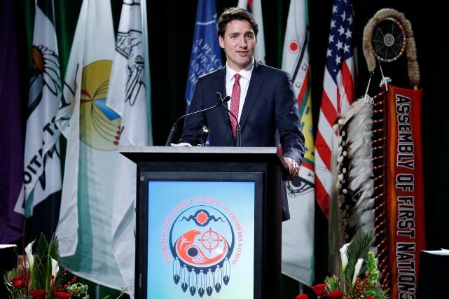 Le premier ministre du Canada, Justin Trudeau... (PHOTO Chris Wattie, REUTERS)