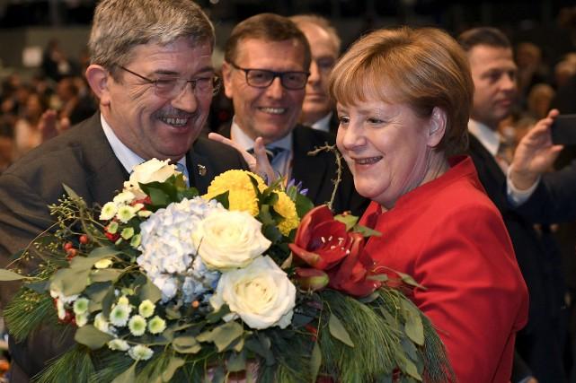 La chancelière allemande Angela Merkel a été réélue... (AP, Martin Meissner)