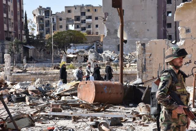 L'armée syrienne et ses alliés russe et iranien... (AFP, George Ourfalian)
