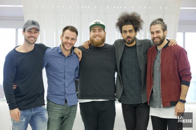 Joey Scarpellino, Daniel Pinet, Phil Roy, Adib Alkhalidey... (La Presse, François Roy)