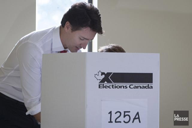 Justin Trudreau lors de l'élection fédérale en 2015... (La Presse, Ivanoh Demers)