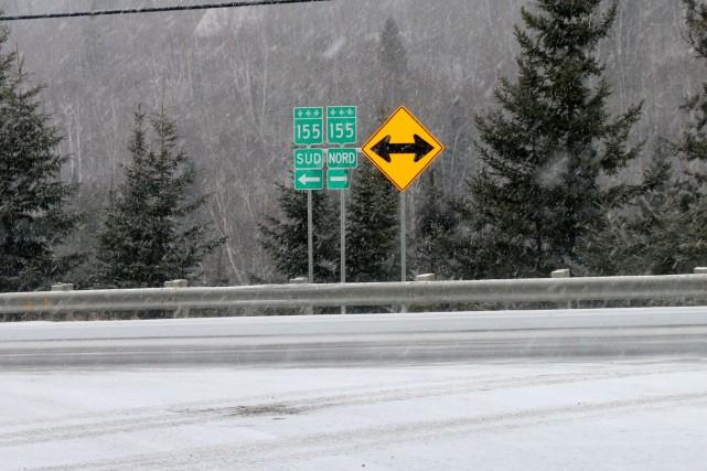 L'entretien hivernal de la route 155 entre La... (Audrey Tremblay, Le Nouvelliste)