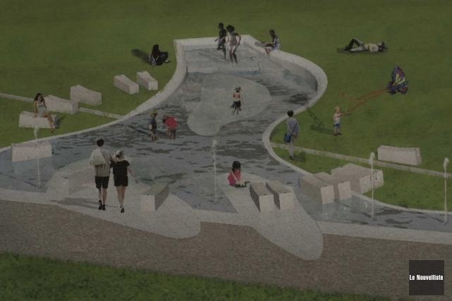 Le projet de «jeux d'eau», auparavant désigné «fontaine».... (Sylvain Mayer, Le Nouvelliste)