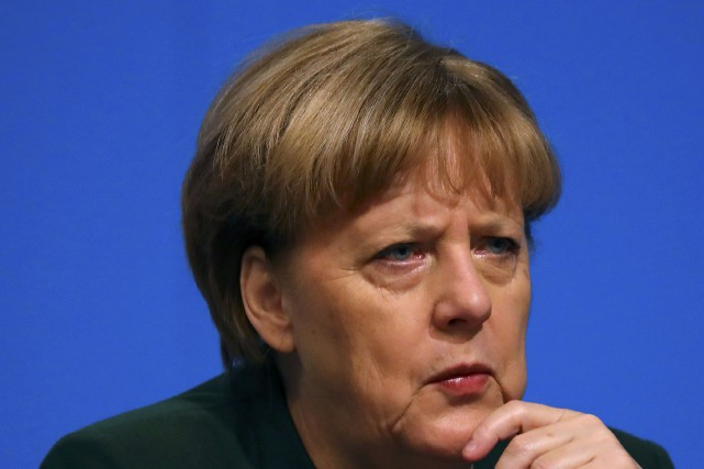 German Chancellor and leader of the conservative Christian... (REUTERS)