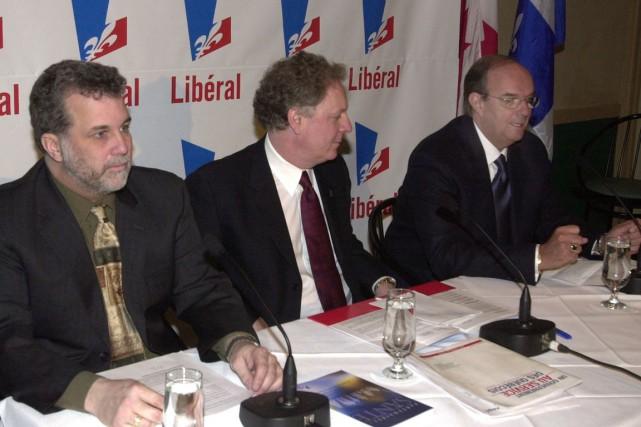 André Tranchemontagne (à la gauche de Jean Charest)...