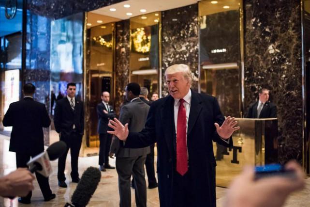 Le président désigné Donald Trump a commencé à... (photoHilary Swift, theNew York Times)