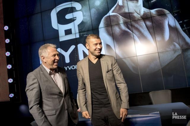 Yvon Michel et Lucian Bute... (Photo Marco Campanozzi, La Presse)