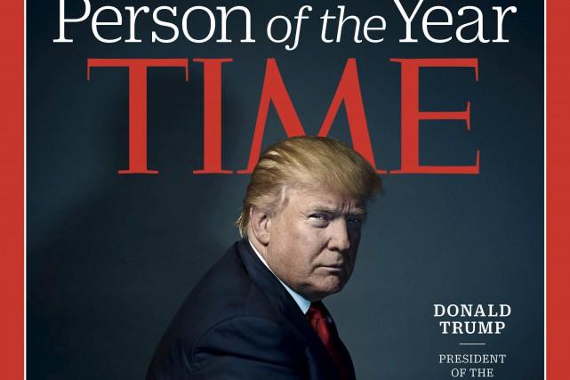 Élu contre toute attente président des États-Unis lors... (AFP, via le magazine Time)