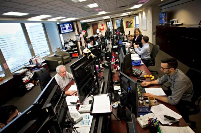 L'équipe de négociation de titres chez Addenda Capital... (Photo Patrick Sanfaçon, La Presse)