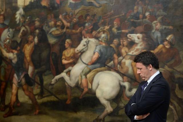 «La démission du premier ministre Matteo Renzi, qui... (PHOTO Filippo MONTEFORTE, archives Agence France-Presse)