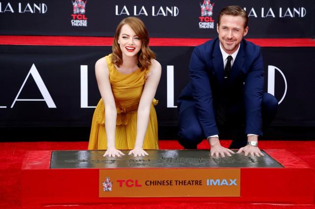 Emma Stone et Ryan Gosling... (PHOTO Mario Anzuoni, REUTERS)