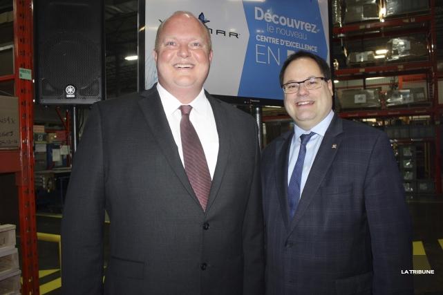 Le directeur général d'AQH Canada, David Barrow, a... (La Tribune, Yanick Poisson)