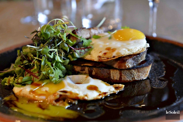 Le steak and egg... (Le Soleil, Pascal Ratthé)