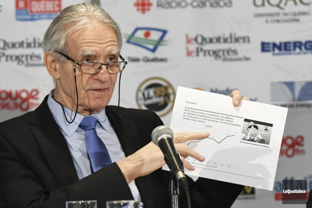 L'historien et sociologue Gérard Bouchard était l'invité du... (Photo Le Quotidien, Rocket Lavoie)