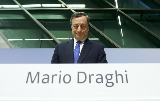 Mario Dragh, président de la BCE.... (REUTERS)