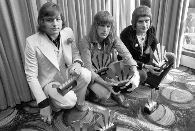 Greg Lake, Keith Emerson et Carl Palmer, du... (AP)
