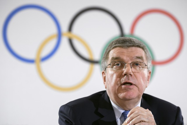Le président du Comité international olympique, Thomas Bach.... (Photo Fabrice Coffrini, AFP)