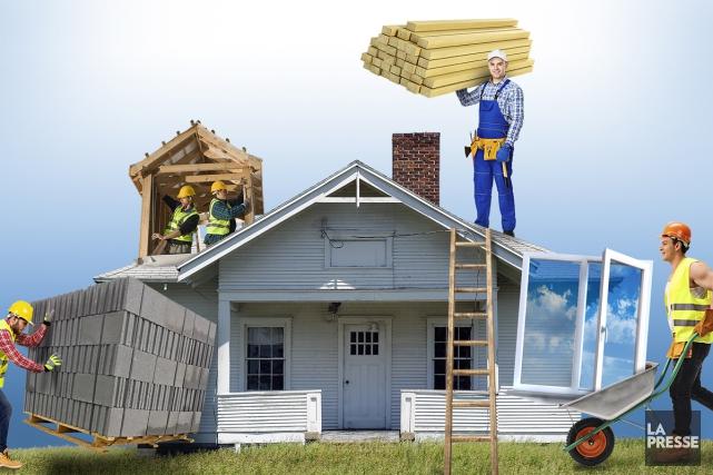 Les flips immobiliers - acheter une propriété à bas prix et la... (Photomontage La Presse)