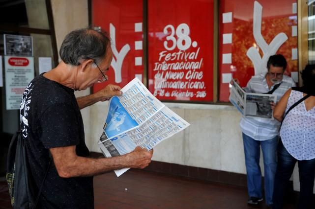 Le Festival de cinéma latino-américain de La Havane s'ouvre jeudi sur fonds de... (PHOTO AFP)