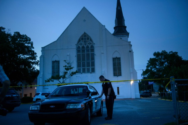 L'église Emanuel African Methodist Episcopal Church, à Charleston,... (PHOTO AFP)
