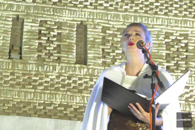 La soprano québécoise Raphaëlle Paquette a offert plusieurs... (La Tribune, Jonathan Custeau)
