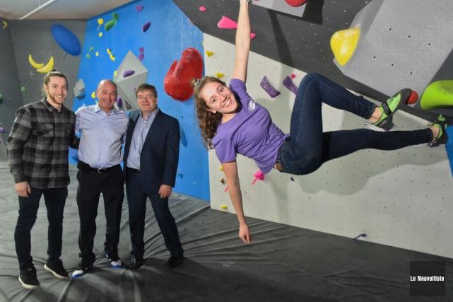 Sur la photo: les trois entrepreneurs derrière ce... (François Gervais, Le Nouvelliste)