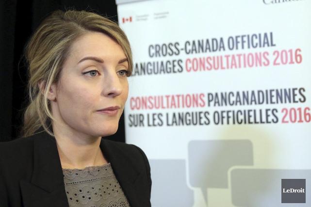 La ministre du Patrimoine canadien, Mélanie Joly... (Étienne Ranger, Le Droit)