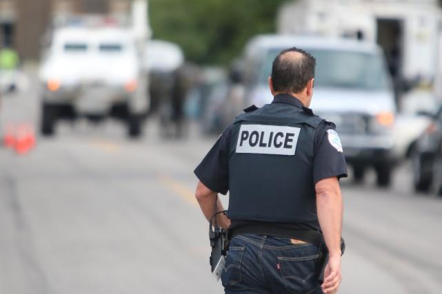 Mont-Bleu sous haute tension police Gatineau SQ Surete... (Le Droit)