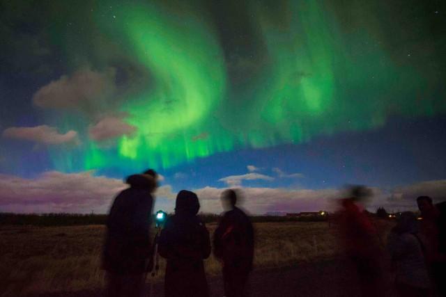 Les aurores boréales de l'Islande font partie des... (AFP, Hallor Kolbeins)