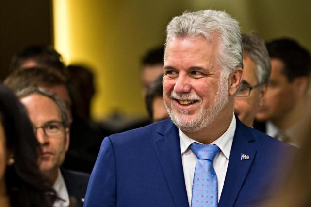 Le premier ministre du Québec Philippe Couillard a... (Archives, La Presse)