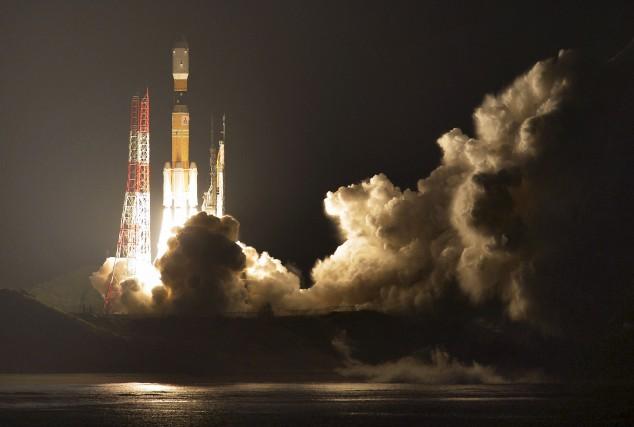 Le vaisseau appelé «Kounotori 6» (cigogne), a été... (AP)
