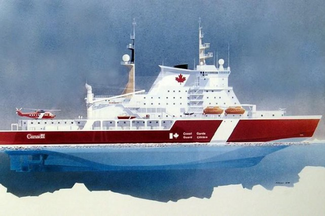 Une illustration du brise-glace de John G. Diefenbaker... (PHOTO ARCHIVES LA PRESSE CANADIENNE/GOUVERNEMENT DU CANADA)