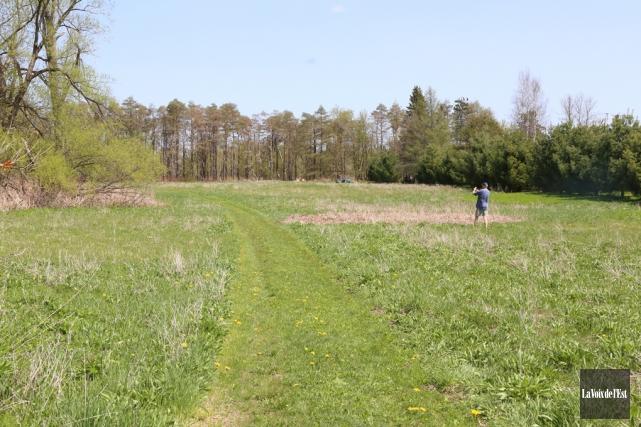 Le terrain de deux hectares est bordé d'un... (Janick Marois, archives La Voix de l'Est)